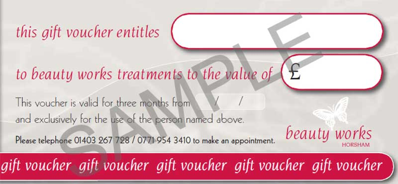 Beauty Salon Gift Vouchers